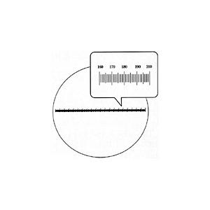 【 渋谷光学 接眼ミクロメーター (No.R1085-28.5) 】水平目盛 外径28.5mm