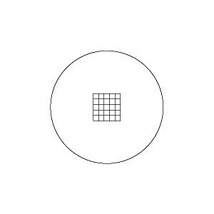 【 渋谷光学 接眼ミクロメーター 方眼目盛 (R1111-27) 】方眼目盛(5/5×5)H 外径27.0mm