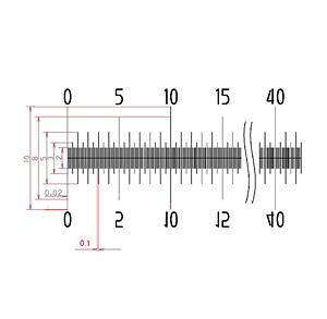 【 渋谷光学 ガラス 基準スケール(No.S1011) 】50mm 500等分 線幅0.020mm