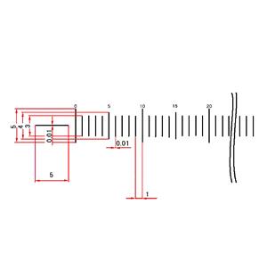 【 渋谷光学 ガラス 基準スケール(No.S1044) 】200mm 200等分線幅0.010mm