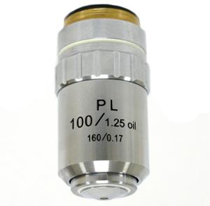 【生物顕微鏡用 対物レンズ100×oil(プランアクロマート)】
