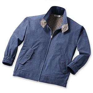 送料無料  mij/エムアイジェイ 日本製 紳士久留米織デザインブルゾン(37269)