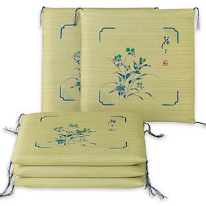 い草座布団「花しずく」5枚組 サラリとした肌触りと、涼しげな見た目、上質ない草を使用した、お客様にも誇れる国産座布団