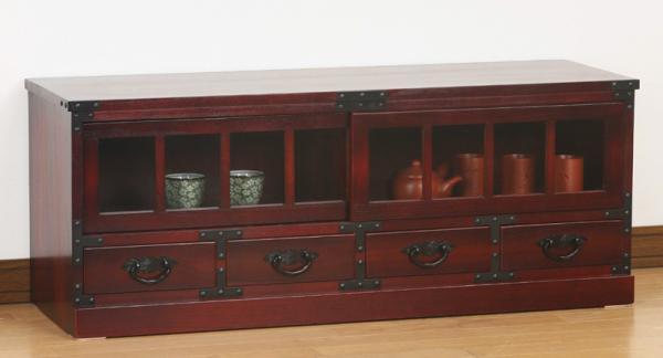期間限定 民芸調家具シリーズ 和モダン民芸家具 【ローボード】   和たんす