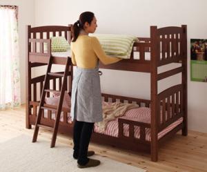天然木コンパクト分割式2段ベッド【fine】ファイン 天然木 分割式 2段ベッド 【代引き不可】