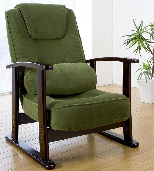 折畳み式 木肘高座椅子 「座椅子 リクライニング 」 【代引き不可】