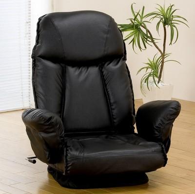 快適な座り心地!肘付き回転座椅子【送料無料】
