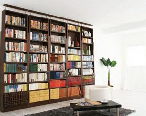 期間限定 究極のこだわり本棚!突っ張り式 「収納 本棚 壁面収納 収納家具 ブックシェルフ 木製 日本製」
