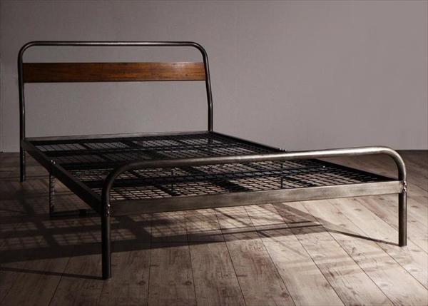 デザインスチールベッド Sidonia シドニア ベッドフレームのみ セミダブル   家具 インテリア デザインベッド 省スペース 通気性抜群 無骨なフレームがかっこいい ナチュラル ヴィンテージスタイル