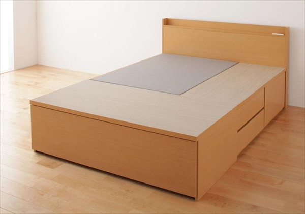 組立設置付 布団が収納できるチェストベッド Fu-ton ふーとん ベッドフレームのみ セミダブル  「チェストベッド 収納ベッド コンセント 棚付き フレーム 日本製」