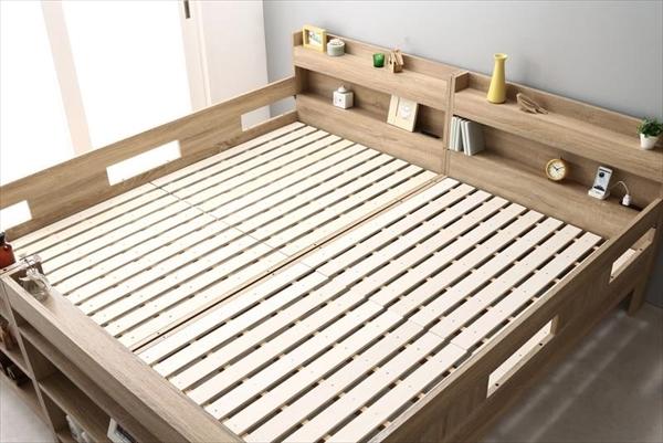 2段ベッドにもなるワイドキングサイズベッド Whentass ウェンタス ベッドフレームのみ スタンダード ワイドK200 「木製 おしゃれ 2段ベッド 耐震構造 しっかり丈夫な2段ベッド サイドガード付きで安心」