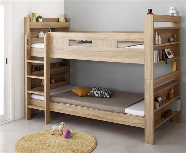 2段ベッドにもなるワイドキングサイズベッド Whentass ウェンタス 薄型軽量ボンネルコイルマットレス付き スタンダード ワイドK200  「木製 おしゃれ 2段ベッド 耐震構造 しっかり丈夫な2段ベッド サイドガード付きで安心」