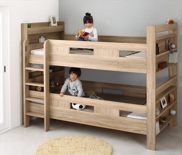 2段ベッドにもなるワイドキングサイズベッド Whentass ウェンタス 薄型軽量ポケットコイルマットレス付き フルガード ワイドK200  「木製 おしゃれ 2段ベッド 耐震構造 しっかり丈夫な2段ベッド サイドガード付きで安心」