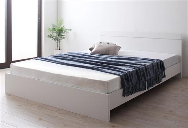 ずっと使えるロングライフデザインベッド Vermogen フェアメーゲン 国産ポケットコイルマットレス付き セミシングル  ローベッド フロアベッド