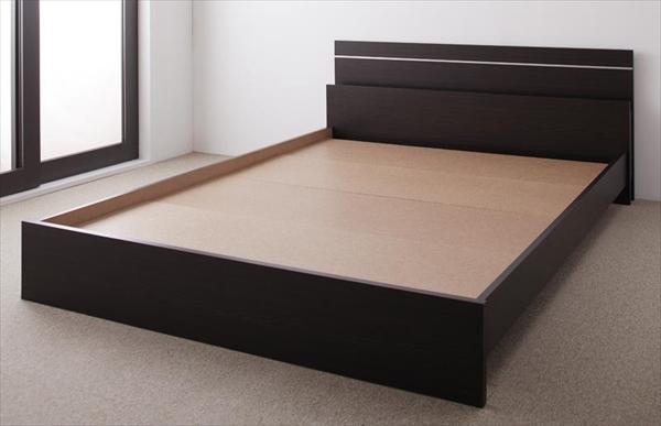 親子で寝られる・将来分割できる連結ベッド JointEase ジョイント・イース ベッドフレームのみ セミダブル   ローベッド フロアベッド ファミリーベッド 最大280cm 棚・照明付き 高品質 国産フレーム