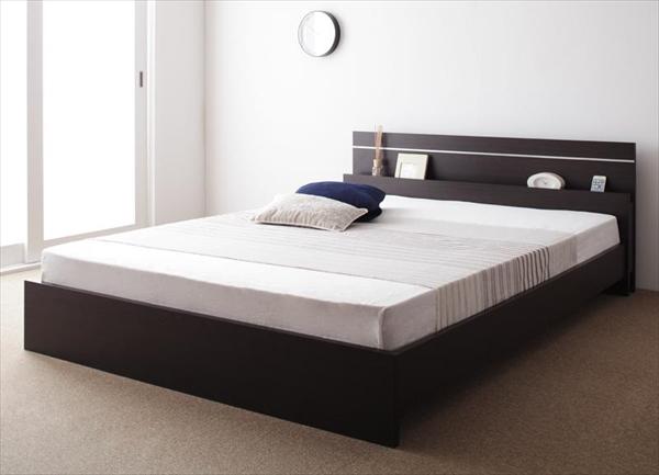 親子で寝られる・将来分割できる連結ベッド JointEase ジョイント・イース 天然ラテックス入り国産ポケットコイルマットレス付き ダブル   ローベッド フロアベッド ファミリーベッド 最大280cm 棚・照明付き 高品質 国産フレーム