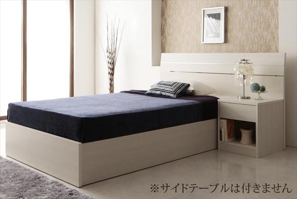 家族で寝られるホテル風モダンデザインベッド Confianza コンフィアンサ ボンネルコイルマットレス付き シングル  ベッドサイドテーブル別売 「大型ベッド 国産フレーム マットレス付き 大容量収納スペース ゆったり 」