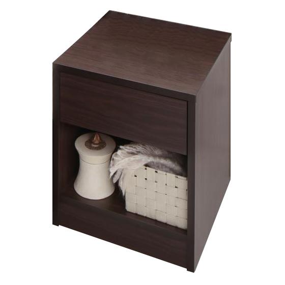 家族で寝られるホテル風モダンデザインベッド Confianza コンフィアンサ 専用別売品(ベッドサイドテーブル) W45  単品  テーブルのみ ベッドついておりません モダンデザインベッド用サイドテーブル 棚付き 小物収納