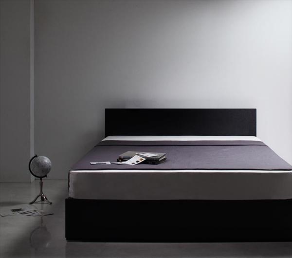 シンプルモダンデザイン・収納ベッド 【ZWART】ゼワート 【ボンネルコイルマットレス:ハード付き】 ダブル  「収納ベッド ベッド 」