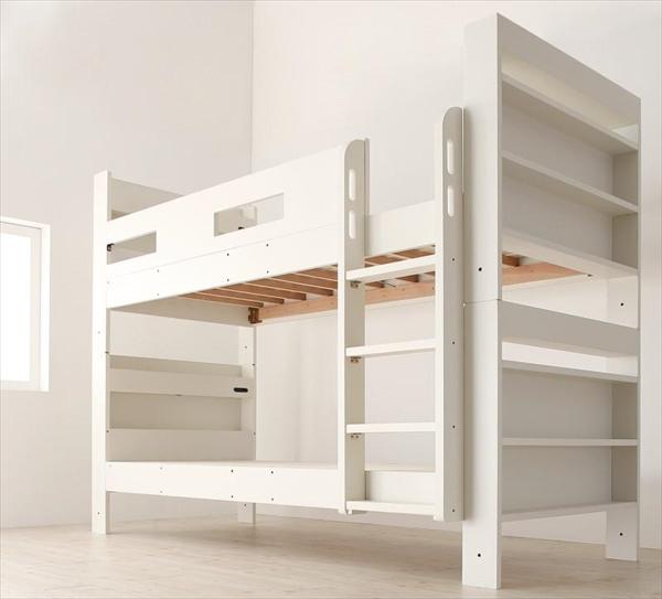 クイーンサイズベッドにもなるスリム2段ベッド Whenwill ウェンウィル ベッドフレームのみ スタンダード クイーン  「2段ベッド しっかり強度 ライト 引き出し 収納付き 棚 コンセント付き」