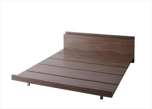 モダンデザインローベッド FRANCLIN フランクリン ベッドフレームのみ クイーン(Q×1)  木製ベッド フロアベッド まるでデザイナーズベッド 木目 ベッドルーム 美しい背面 贅沢でゆったり
