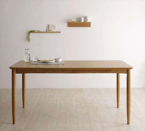 天然木 北欧ナチュラルデザイン ダイニング【Tiffin】ティフィン/ダイニングテーブル(W150)  「北欧木製 ダイニングドテーブル テーブル 木目」   【代引き不可】