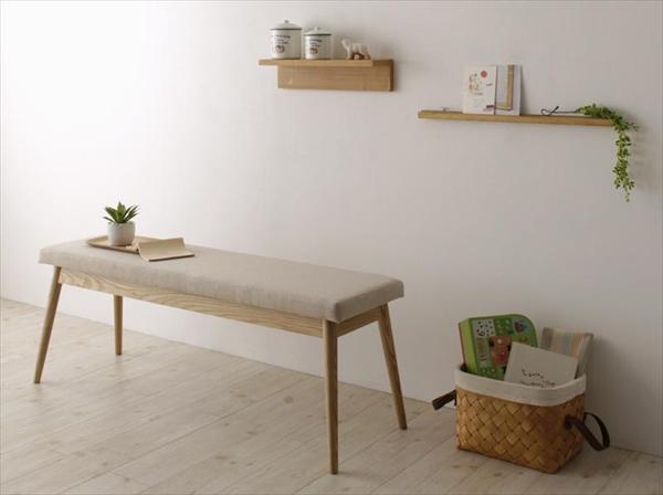 天然木 北欧ナチュラルデザイン ダイニング【Tiffin】ティフィン/ベンチ 「家具 インテリア 北欧木製 ダイニングドベンチ 椅子 いす 美しい」