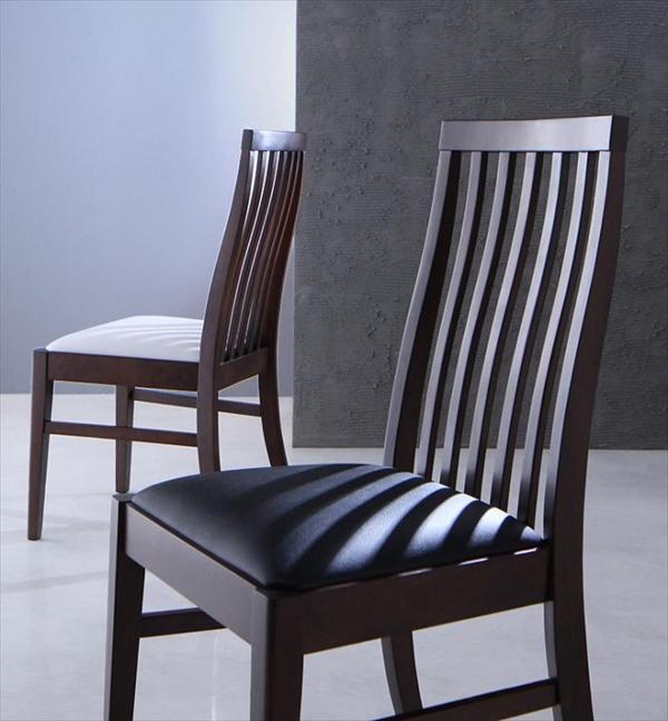 期間限定 ハイバックチェア ウォールナット材 スライド伸縮式ダイニング Gemini ジェミニ ダイニングチェア 2脚組 単品 チェアのみ 「ダイニングチェア ハイバックチェア 椅子 いす 天然木 合成皮革(PVC)」