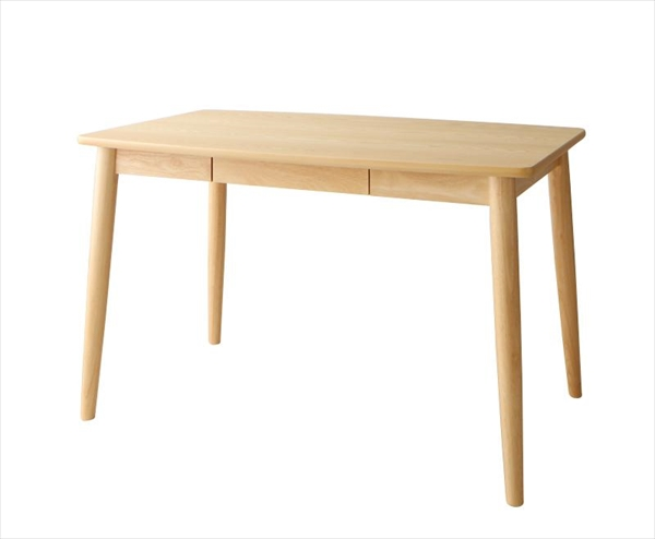 北欧スタイルダイニング OLIK オリック ダイニングテーブル W115 テーブルのみ単品 便利な引き出し付き 木製