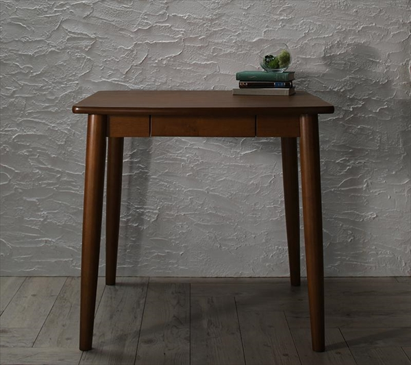 モダンデザインダイニング Le qualite ル・クアリテ ダイニングテーブル W75 テーブルのみ単品 便利な引き出し付き 木製 デスクとして