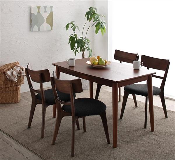 モダンデザインダイニング Le qualite ル・クアリテ 5点セット(テーブル+チェア4脚) W115 ダイニング5点セット テーブル115cm 引き出し付き 木製 デスクとして チェア いす