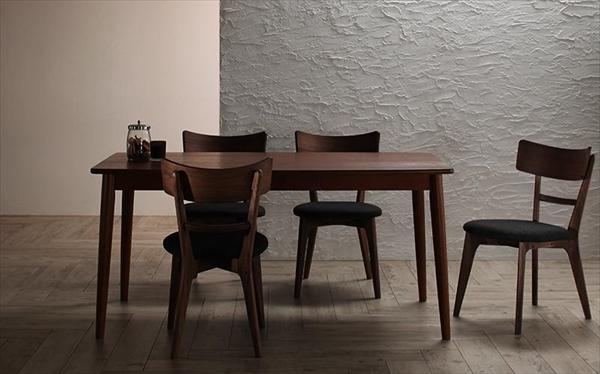 モダンデザインダイニング Le qualite ル・クアリテ 5点セット(テーブル+チェア4脚) W150 ダイニング5点セット テーブル150cm 引き出し付き 木製 デスクとして チェア いす