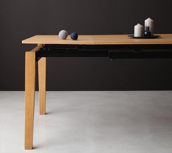 期間限定 デザイナーズテイスト 北欧モダンダイニングセット CHESCA チェスカ ダイニングテーブル W140-240  単品 テーブのみ  「北欧 天然木 伸縮式テーブル エクステンションダイニング ダイニングテーブル 伸縮自在 らくらく」