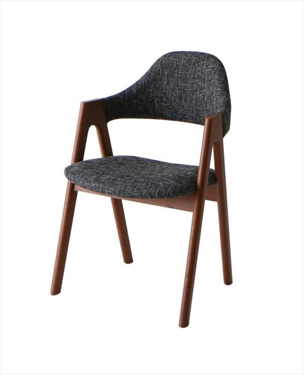 北欧テイスト 天然木ウォールナット材 伸縮ダイニングセット KANA カナ ダイニングチェア 2脚組 単品 チェアのみ 「ダイニングチェア チェア 椅子 美しい 木製」