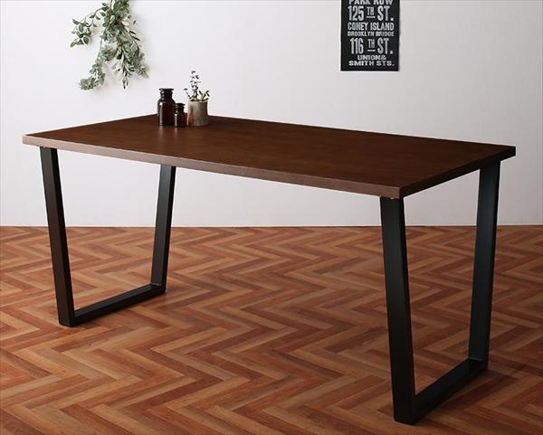 期間限定 ヴィンテージテイスト スチール脚ダイニングセット NIX ニックス ダイニングテーブル W150 単品 テーブルのみ   「家具 インテリア テーブル 美しいウォールナット スチール脚 天然木 」