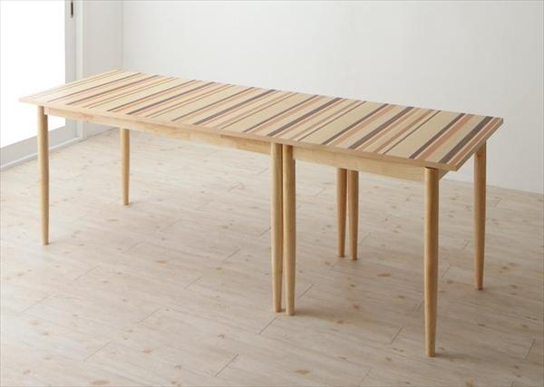 最大210cm 分割できる 北欧テイスト ダイニングテーブル Foral フォーラル 奥行70cmタイプ W210  分割 連結 テーブル