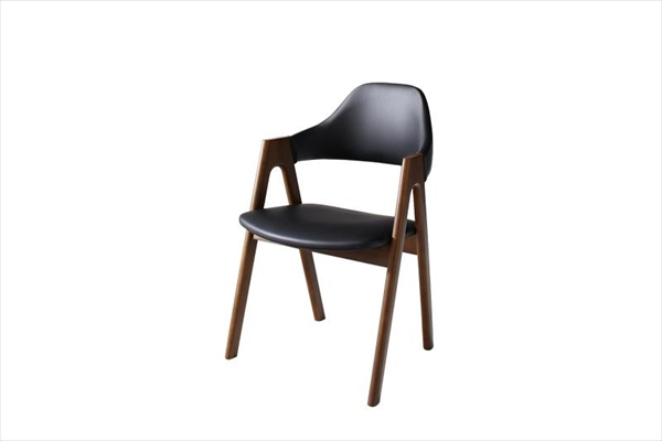 期間限定 北欧テイスト 天然木ウォールナット材 伸縮ダイニングセット Aurora オーロラ ダイニングチェア 2脚組 単品 チェアのみ 「北欧モダンデザイン ダイニングチェア チェア 椅子 美しい 木製」