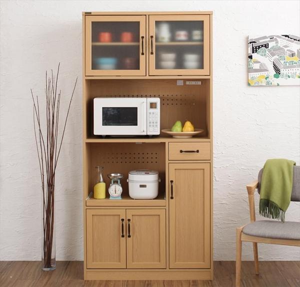 北欧モダンデザインキッチン収納シリーズ Anne アンネ キッチンボード 幅88 高さ182 「家具 キッチン収納棚 レンジ台 キッチンボード 食器 家電 」