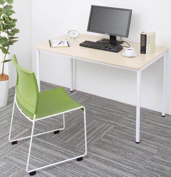 多彩な組み合わせに対応できる 多目的オフィスワークテーブルセット ISSUERE イシューレ 2点セット(テーブル+チェア) W120 「オフィス家具 オフィスセット 万能セット 多目的テーブル スタッキングチェア 法人 医療 学習 ダイニングセット」
