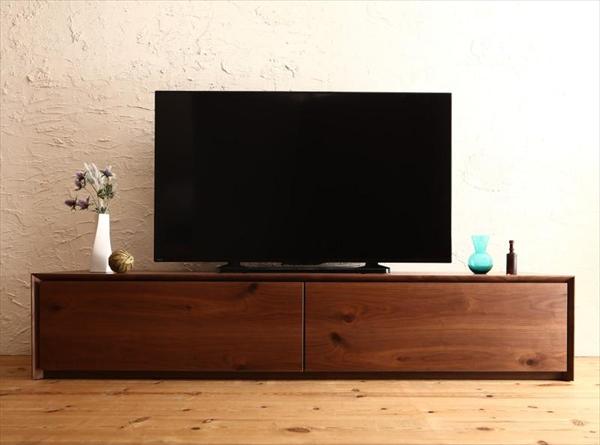 国産完成品天然木 和モダンデザイン ガラス突板テレビボード Dine ディーヌ 幅180  「家具 インテリア テレビ台 TVボード 65V型まで 収納力抜群 高品質 才色兼備 美しい 木目 天然木 ウォルナット調 」