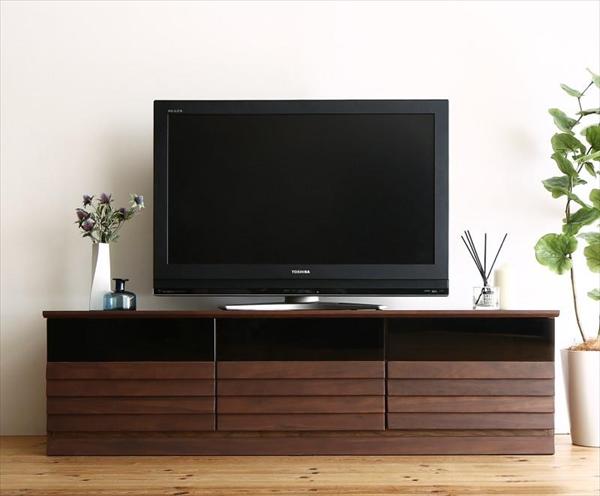 完成品天然木テレビボード Quares クアレス 幅149.5 「家具 インテリア テレビ台 TVボード 65V型まで 収納力抜群 高品質 才色兼備 美しい 木目 ウォルナット調 モダンデザイン リビング収納 AVボード AVラック 木製」