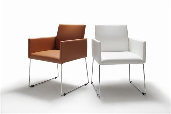 モダンデザインアームチェア付きダイニング【Graniel】グラニエル チェア2脚 「デザイナーズチェア ダイニングチェア 椅子」
