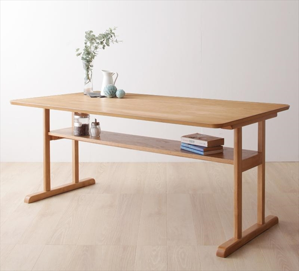 モダンデザイン ソファダイニングセット【HARPER】ハーパー/棚付きテーブル(W150) 単品 セットではない 「ダイニング テーブル 天然木 」
