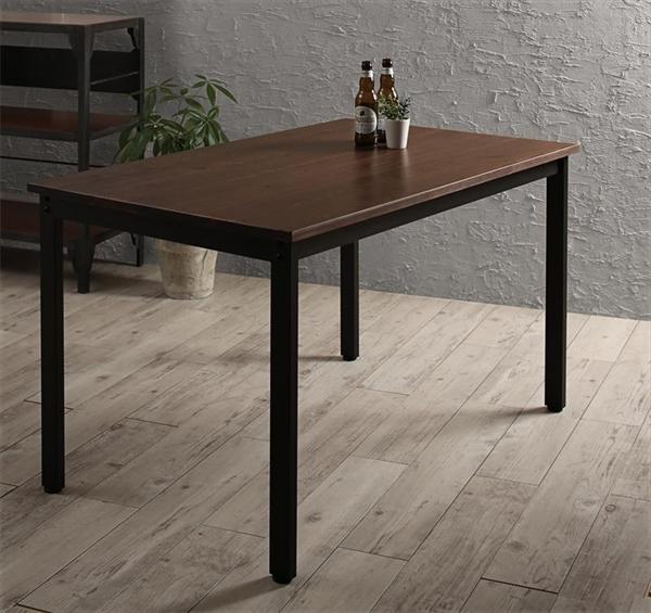 天然木パイン無垢材ヴィンテージデザインダイニング Liage リアージュ ダイニングテーブル W120   「天然木 パイン材 ダイニングテーブル 20mm厚の無垢天板 異素材ミックス」