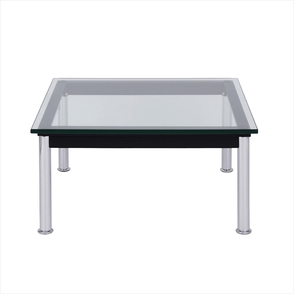 ル・コルビジェ ローテーブル LC10 W70 ローテーブル70cm Le Corbusierローテーブル ガラス製 ル・コルビジェ デザイナーズ家具 可能テーブル