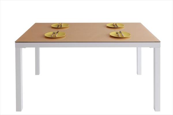 ウッドxガラスダイニング【Saltaire】ソルテア テーブル(W135)ガラステーブル