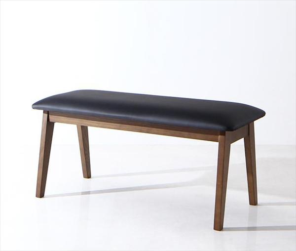 モダンデザイン スライド伸縮テーブル ダイニングセット STRIDER ストライダー ベンチ 2P 単品 1台 ベンチのみ  「ダイニングベンチ PVC 2人掛け チェア 椅子」