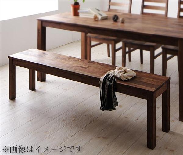総無垢材ワイドダイニング Cursus クルスス ベンチ ウォールナット 2P  ベンチW115 「北欧 天然木 ダイニングベンチ チェア 椅子 いす」