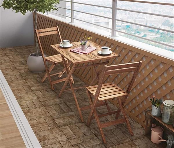 期間限定  アカシア天然木スリムダイニングガーデンファニチャー Cyrielle シリエル 3点セット(テーブル+チェア2脚) スリムテーブル W55  ガーデニング 椅子 折りたたみリクライニングチェア 長方形テーブル アカシア無垢材