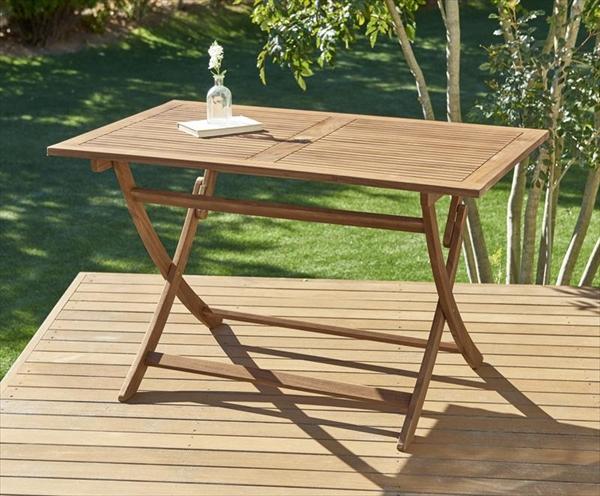 ベンチのサイズが選べる アカシア天然木ガーデンファニチャー Efica エフィカ テーブル W120  折りたたみテーブル